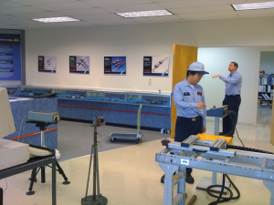 THK using a laser interferometer to test the Kentucky Gauge PD100 accuracy